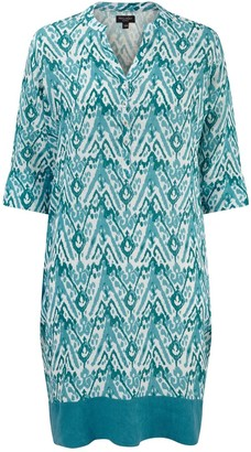 Nologo Chic Aztec Linen Tunc Dress