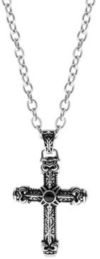 Sutton by Rhona Sutton Sutton Stainless Steel Antique Cross Pendant Necklace