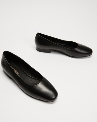 Atmos & Here Atmos&Here - Women's Black Ballet Flats - Deborah Soft Leather Flats - Size 5 at The Iconic