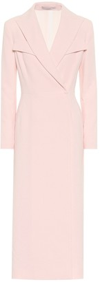 Emilia Wickstead Arlan crepe wrap midi dress