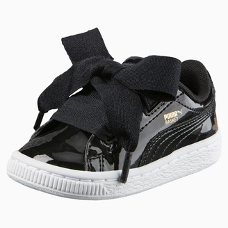 Puma Basket Heart Patent Toddler Shoes