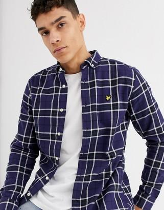 Lyle & Scott check flannel shirt-Navy