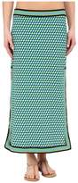 Michael Kors Mini Deco Cube High Slit Skirt Cover-Up