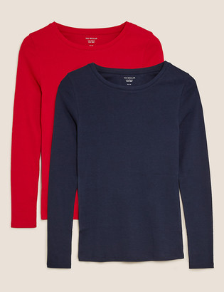 Marks and Spencer 2 Pack Regular Fit Long Sleeve Tops