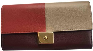 Mulberry Burgundy Leather Wallets