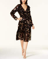 Rachel Roy Printed Mesh Wrap Dress
