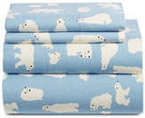Distinctly Home Four-Piece Printed Flannel Sheet Set