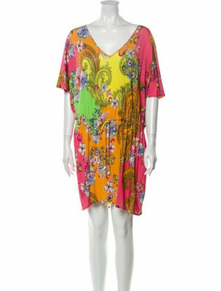 Etro Printed Mini Dress w/ Tags Pink