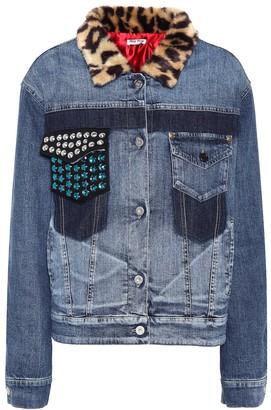 Miu Miu Embellished denim jacket