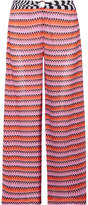 Missoni Mare Cropped Crochet-knit Wide-leg Pants - Pink