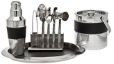 Godinger Stainless Steel Hammered Bar Set (9 PC)
