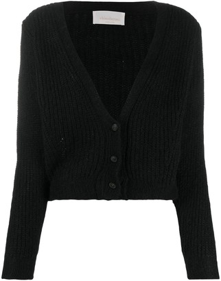Chiara Bertani chunky knit V-neck cardigan