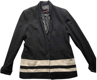Maison Scotch Black Wool Jacket for Women