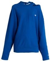 Vetements X Champion oversized cotton-blend sweatshirt