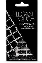 Elegant Touch Envy Wraps Self Adhesive Black and Diamond Accents by