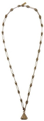 Etro Bell-pendant Chain-link Necklace - Gold