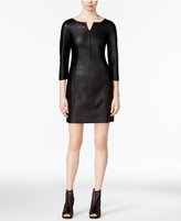 Armani Exchange Faux-Leather Sheath Dress