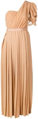 Self-Portrait One Shoulder Pleated Dress