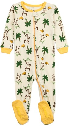 Leveret Beige Monkey Footed Sleeper Pajama (Baby, Toddler, & Little Kids)