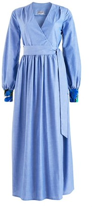 Cocoove Lilody Maxi Wrap Dress in Cotton Chambray