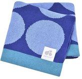 Just Born Jacquard Blanket, Blue Circles by