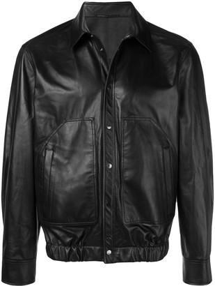 Neil Barrett shirt-leather jacket