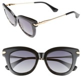 Sonix Women's Elliot 48Mm Cat Eye Gradient Sunglasses - Black Fade/ Black