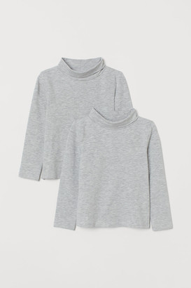 H&M 2-Pack Cotton Polo-Neck Tops