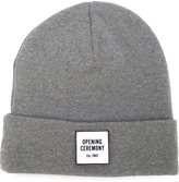 Opening Ceremony logo patch beanie - men - Cotton/Acrylic - One Size