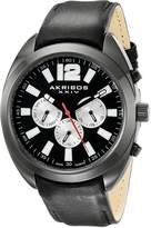 Akribos XXIV Men's AK777BK Analog Display Swiss Quartz Black Watch