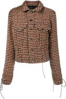Haider Ackermann houndstooth tie-cuff jacket - women - Silk/Cotton/Nylon/Virgin Wool - 34
