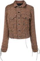 Haider Ackermann houndstooth tie-cuff jacket - women - Silk/Cotton/Nylon/Virgin Wool - 34