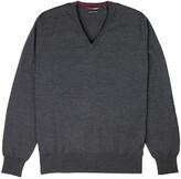 Thumbnail for your product : Romeo Merino - Merino Wool V-Neck Sweater Charcoal
