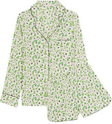 Stella McCartney Poppy Snoozing Floral-print Stretch-silk Crepe De Chine Pajama Set - Leaf green
