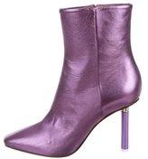 Vetements Metallic Ankle Boots