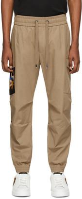 Dolce & Gabbana Beige Patch Cargo Pants