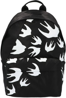 McQ Swallow Print Backpack