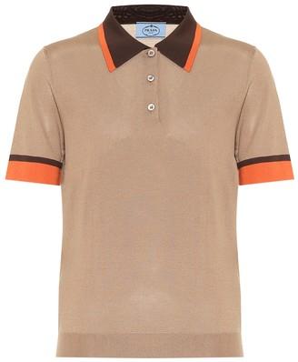 Prada Silk polo shirt