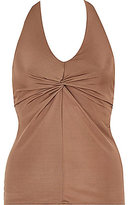 River Island Womens Brown twist front halter neck top
