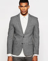 French Connection Premium Heritage Contrast Pindot Jacket - Grey