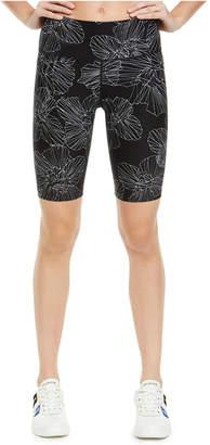 Calvin Klein Floral-Print High-Waist Bike Shorts