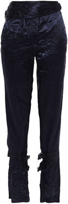Victoria Beckham Crinkled Satin Straight-leg Pants
