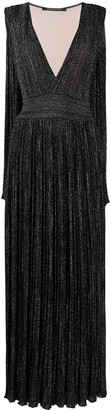 Antonino Valenti Glitter V-Neck Gown