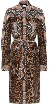 Burberry Animal-print silk shirt dress