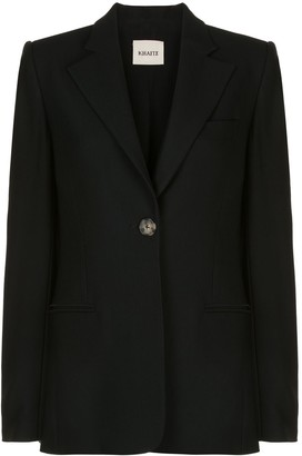 KHAITE Vera single-button blazer