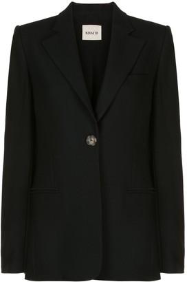 KHAITE Vera single-button blazer