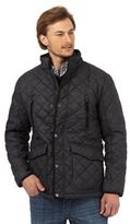 Maine New England Grey Herringbone Textured Quilted Jacket