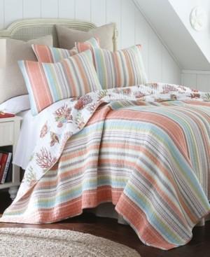 Levtex Home Brighton Coral Twin Quilt Set