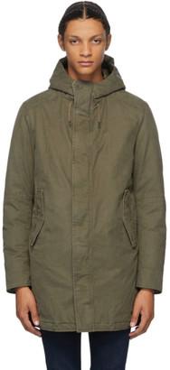 Herno Khaki Down Parka Jacket