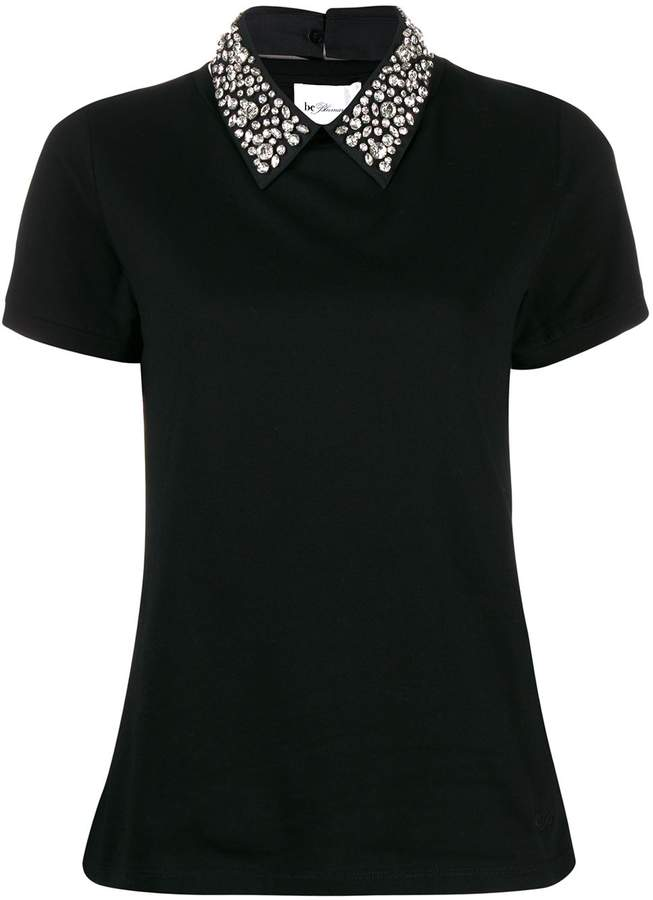 Blumarine be embellished collar T-shirt